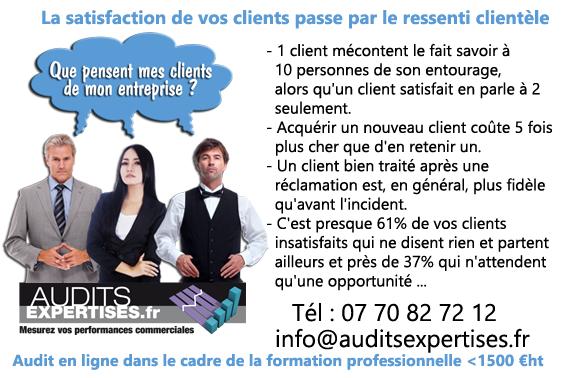 La satisfaction de vos clients passe par le ressenti clientèle