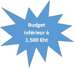 budget inférieur à 1300 €ht